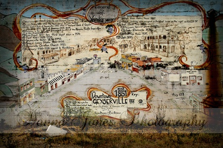 We arrived in town to find a wonderful old map of Geyserville on a wall in the middle of town...